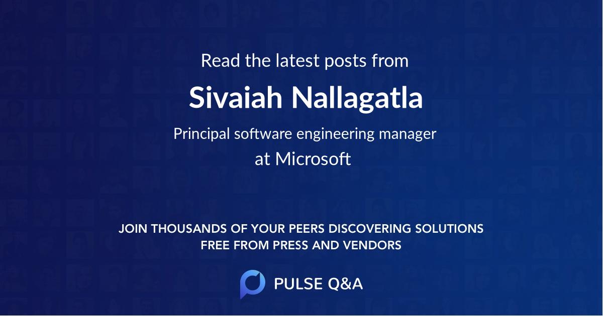 Sivaiah Nallagatla