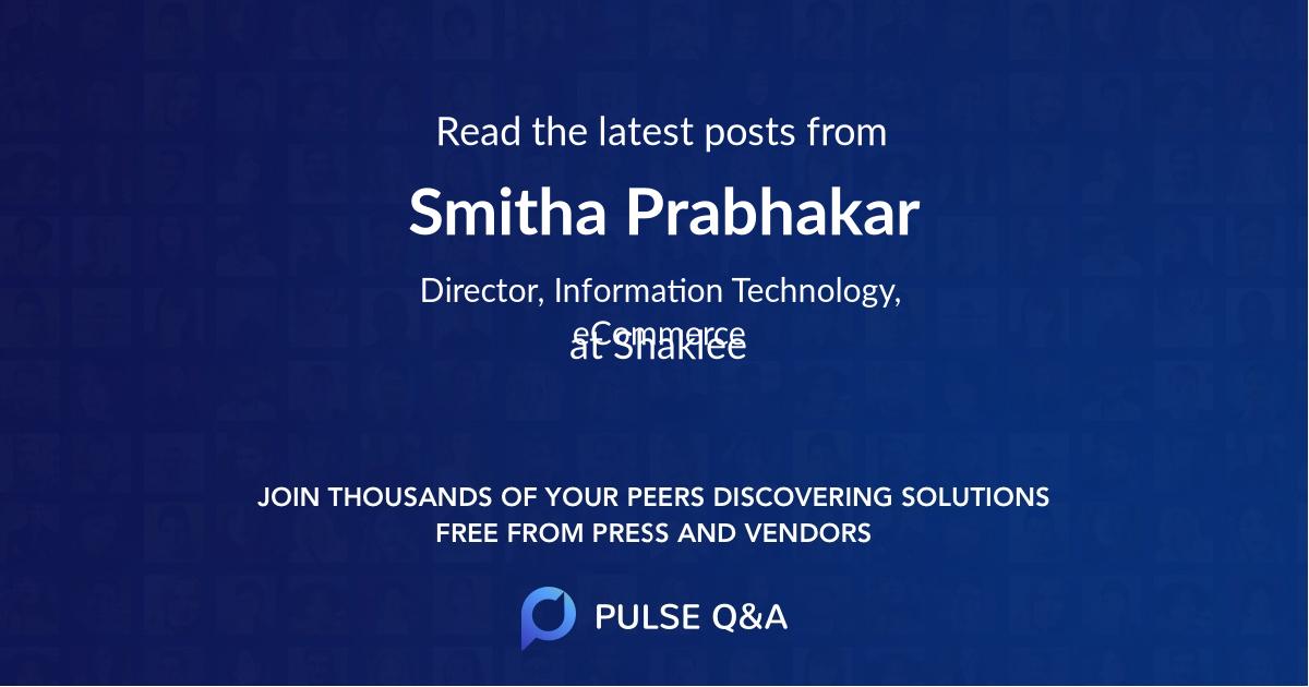 Smitha Prabhakar