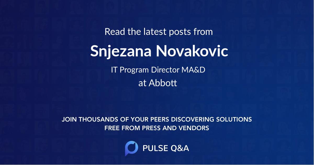 Snjezana Novakovic