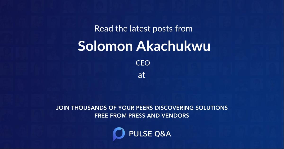 Solomon Akachukwu