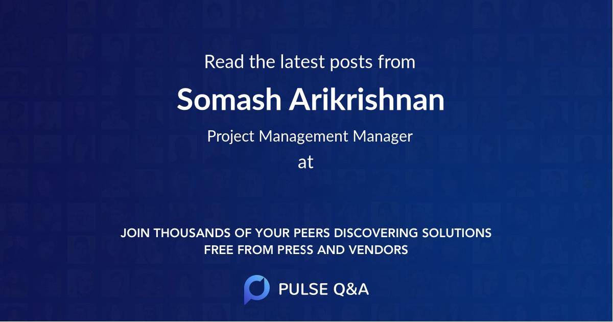 Somash Arikrishnan
