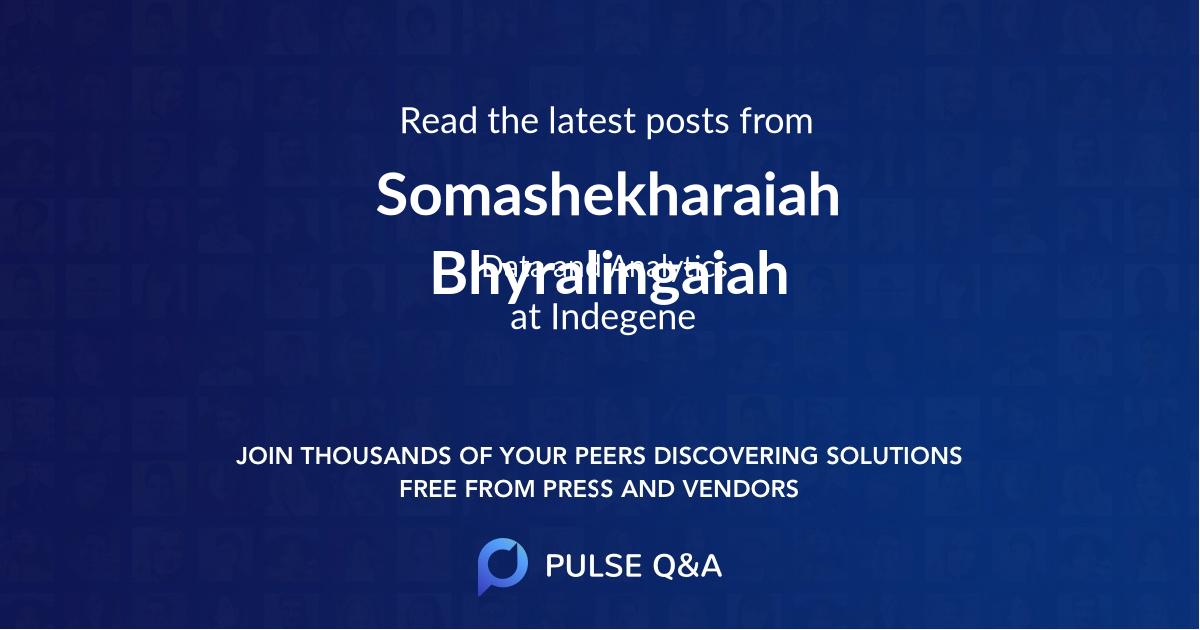 Somashekharaiah Bhyralingaiah