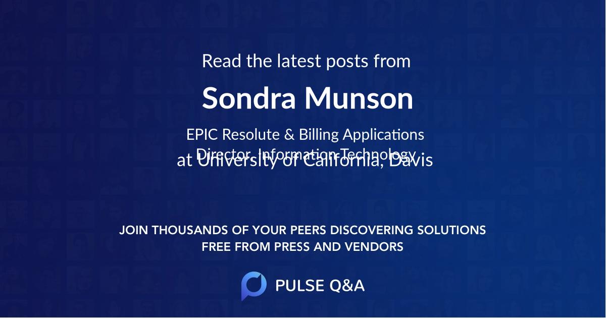 Sondra Munson
