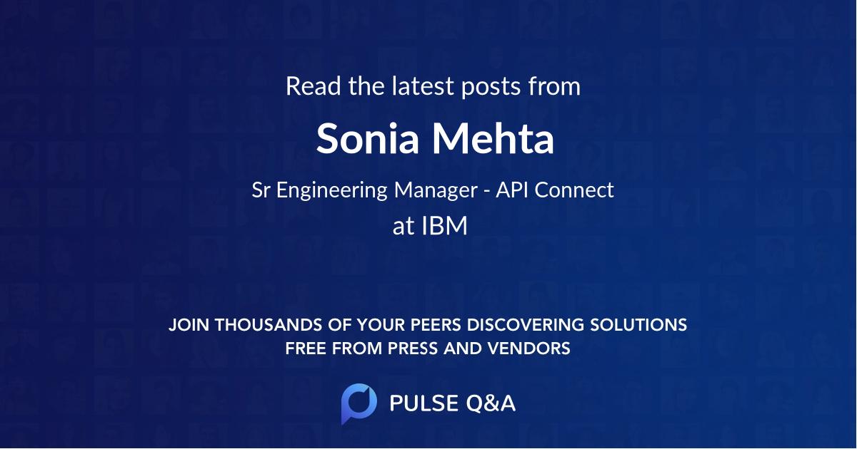 Sonia Mehta
