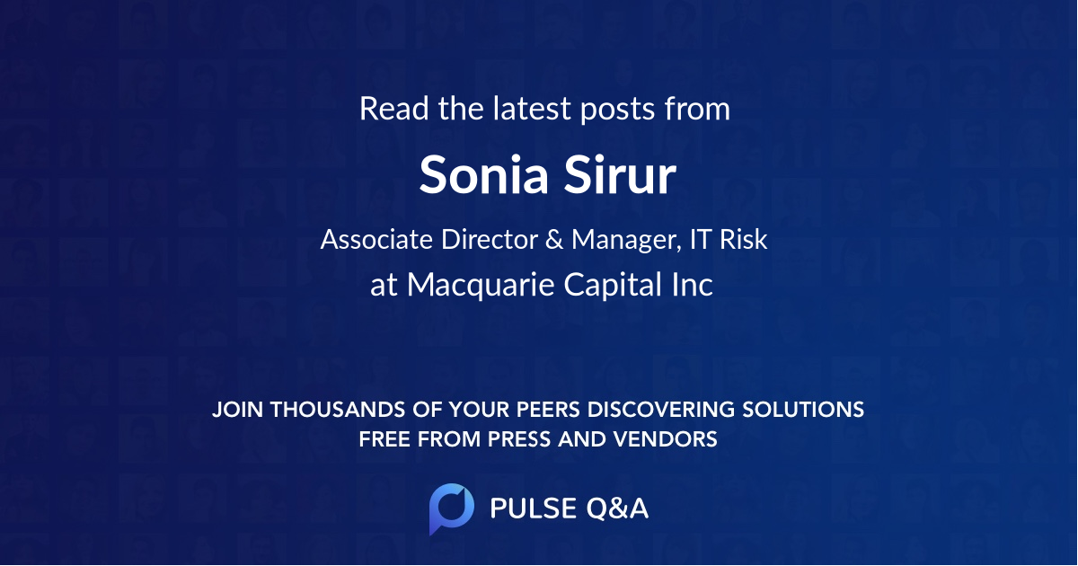 Sonia Sirur