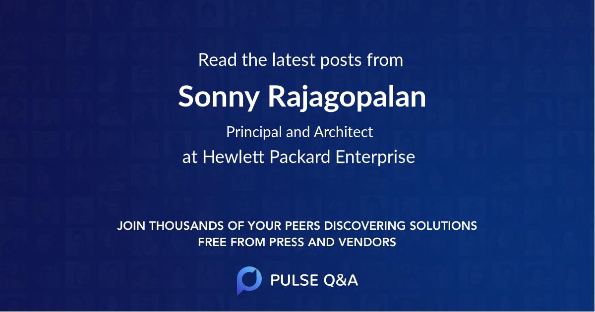 Sonny Rajagopalan