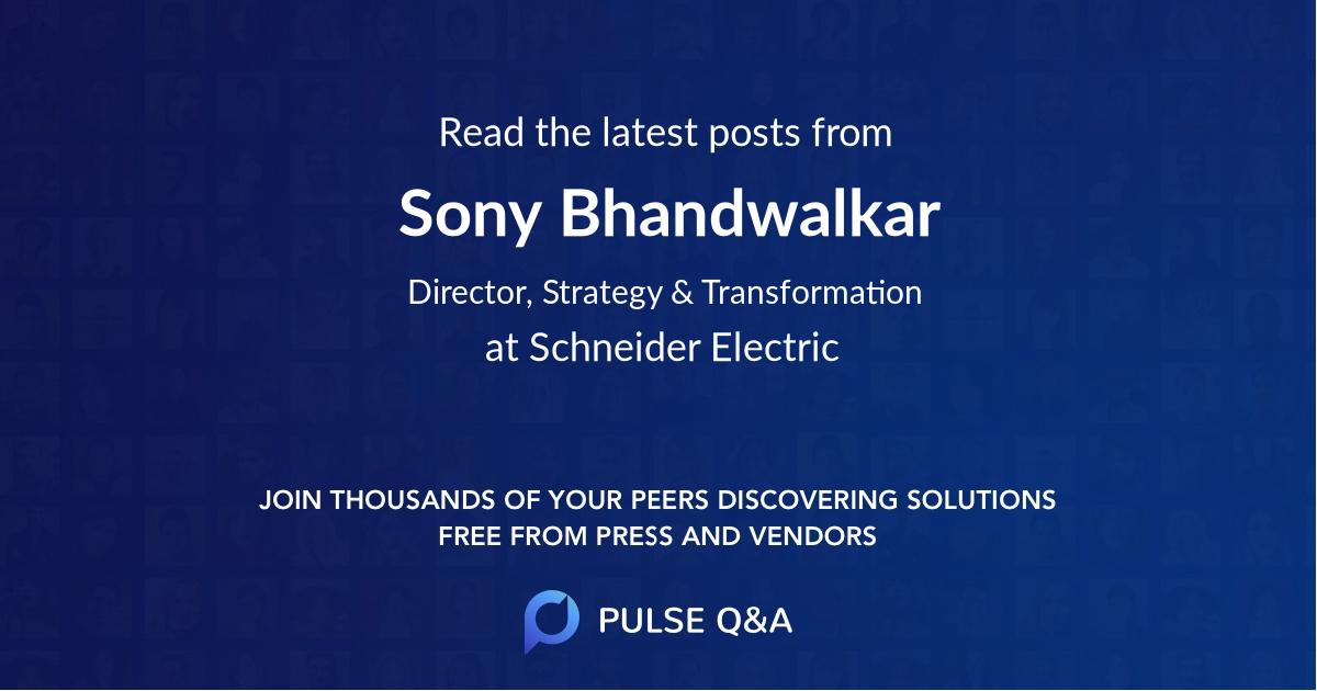Sony Bhandwalkar