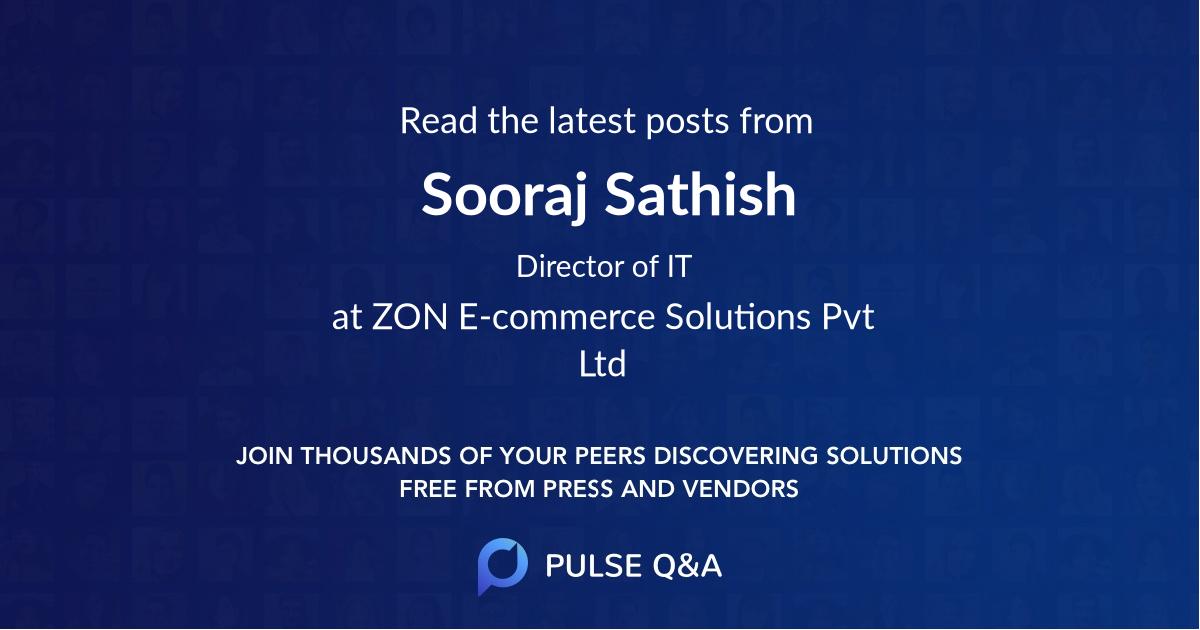 Sooraj Sathish