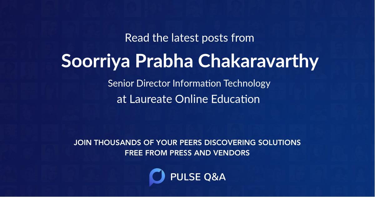 Soorriya Prabha Chakaravarthy