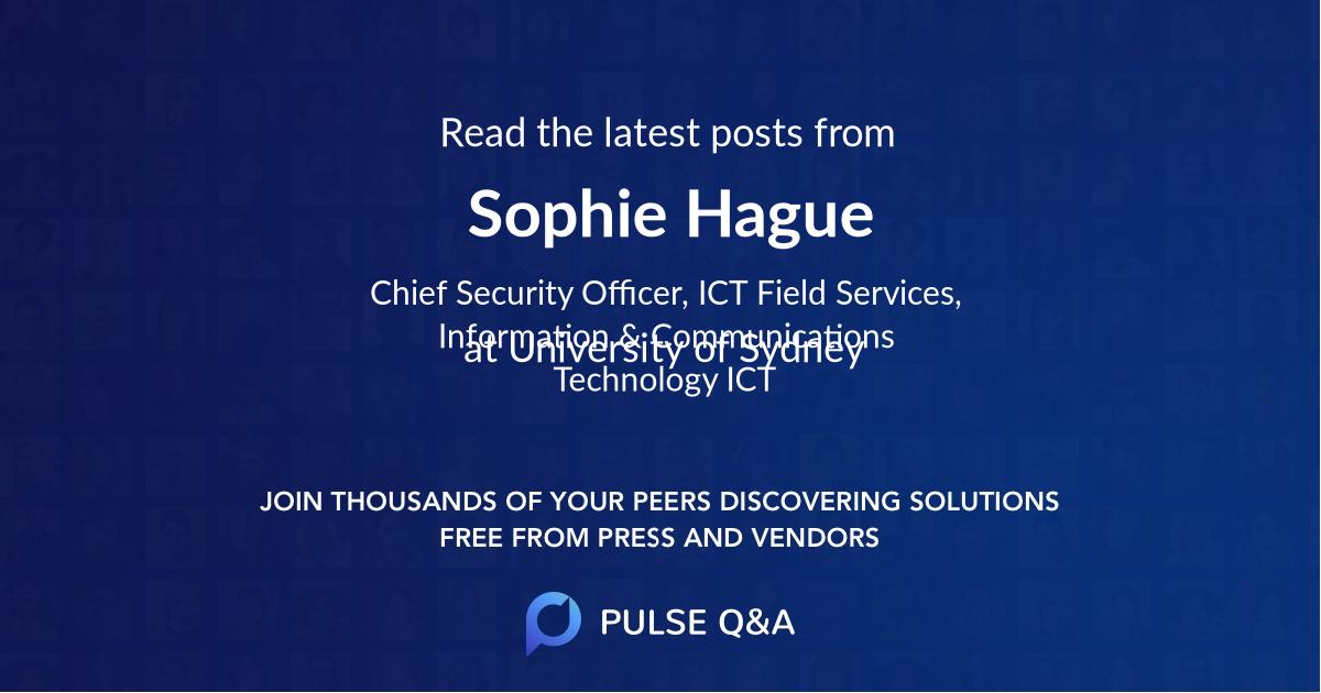 Sophie Hague
