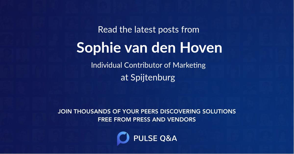 Sophie van den Hoven