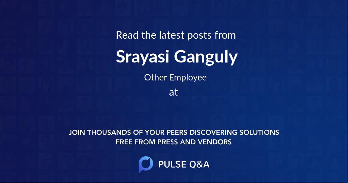 Srayasi Ganguly
