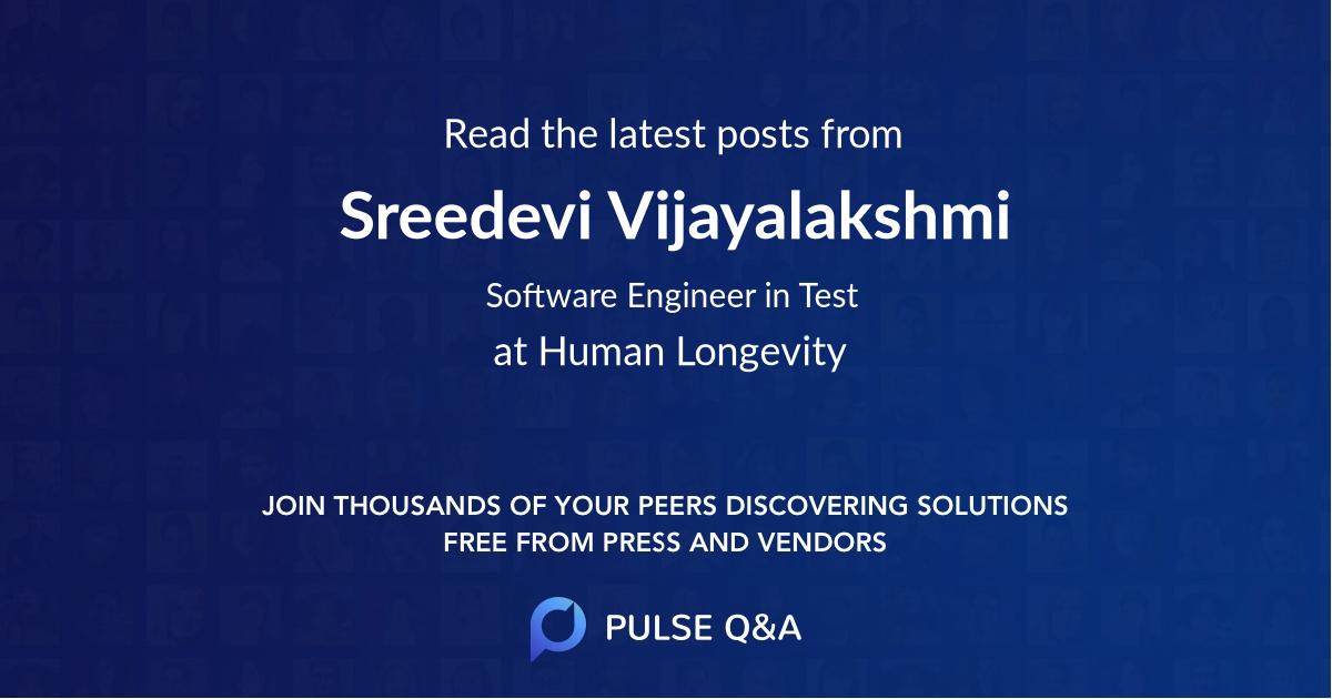 Sreedevi Vijayalakshmi
