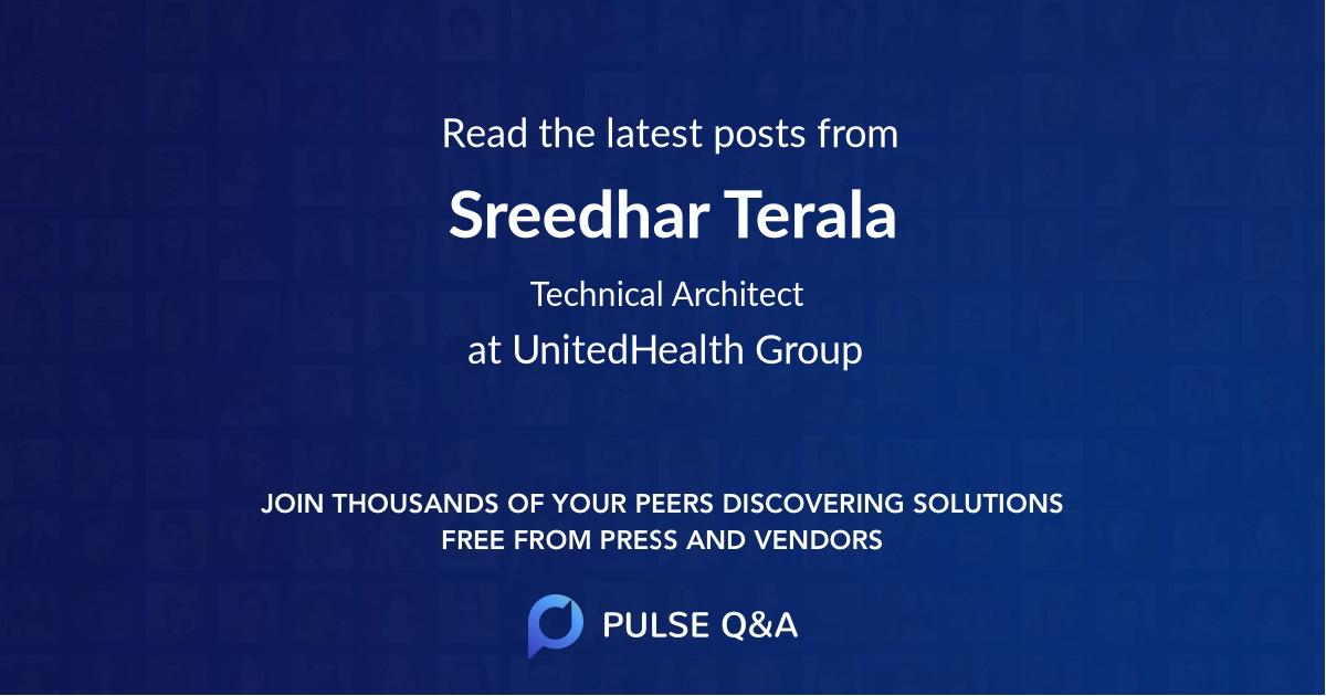 Sreedhar Terala