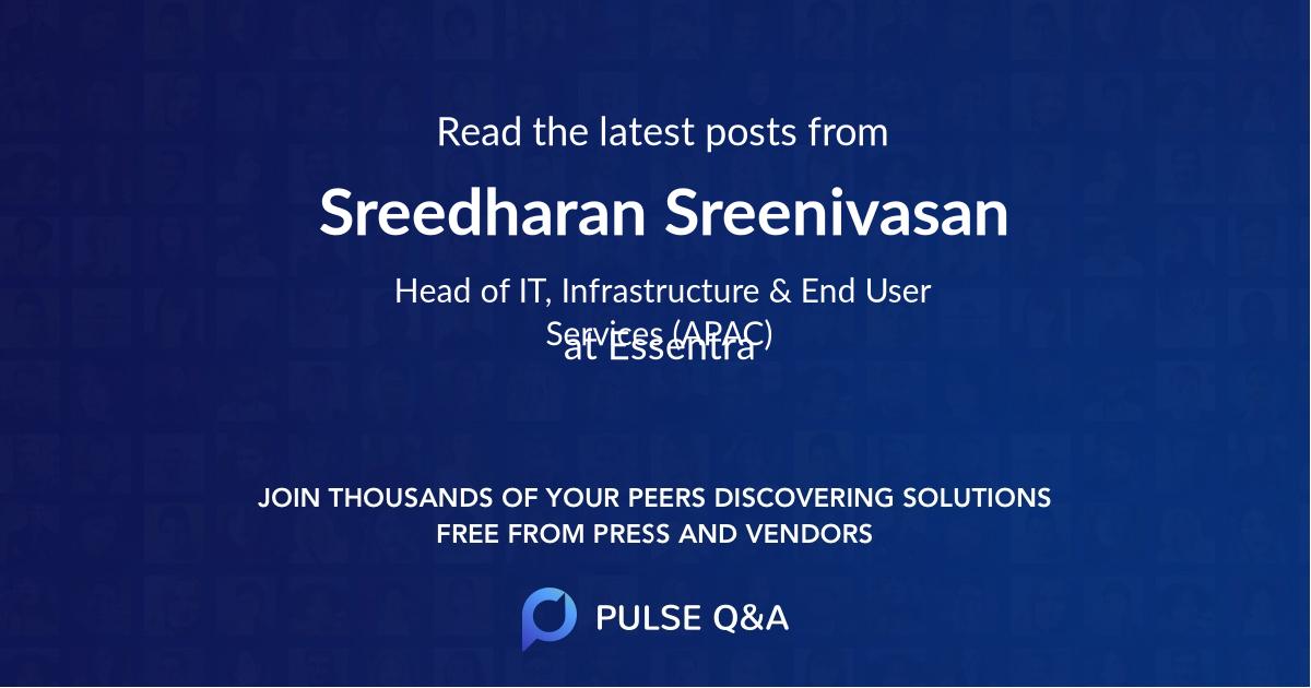 Sreedharan Sreenivasan