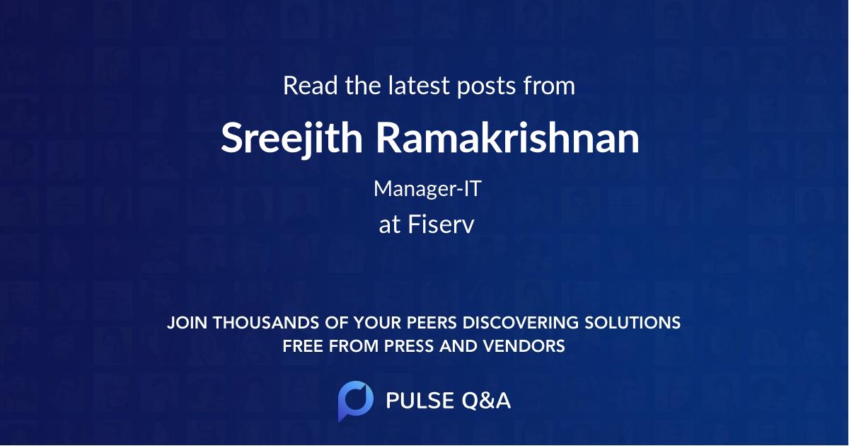 Sreejith Ramakrishnan