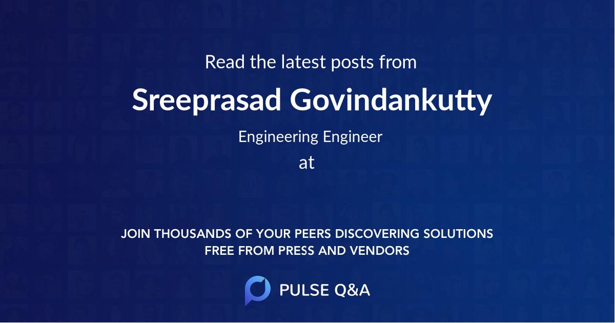Sreeprasad Govindankutty