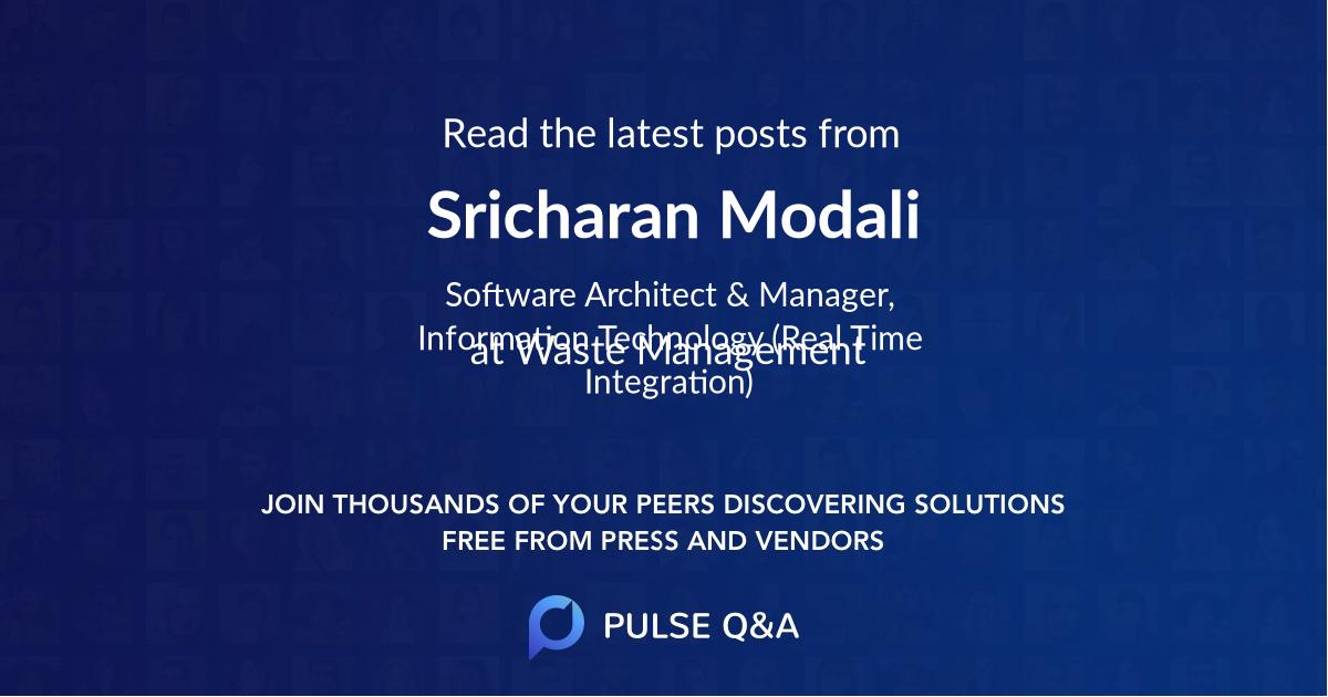 Sricharan Modali