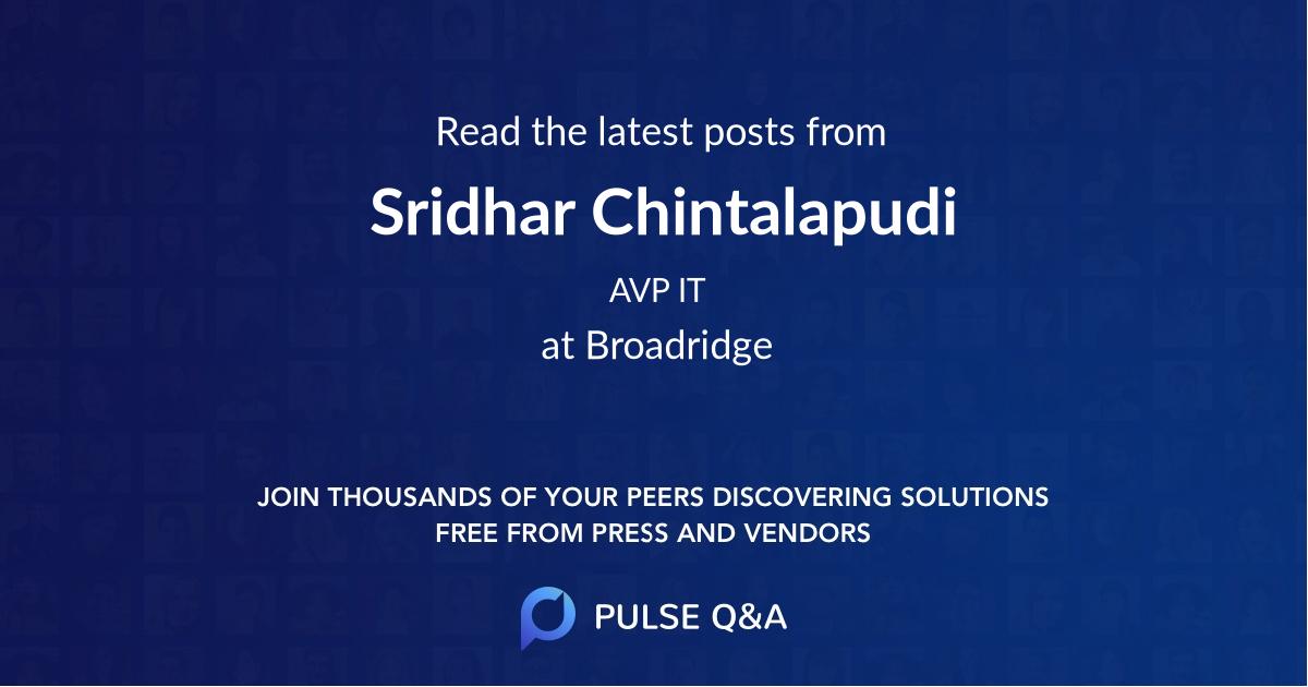 Sridhar Chintalapudi