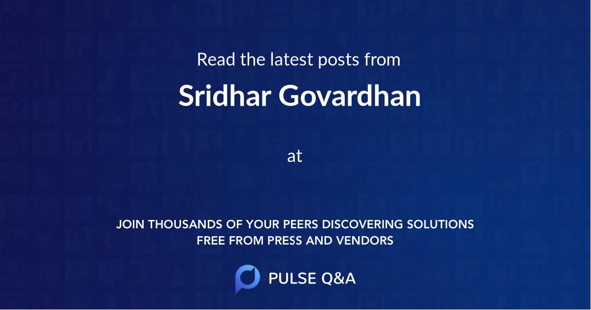 Sridhar Govardhan