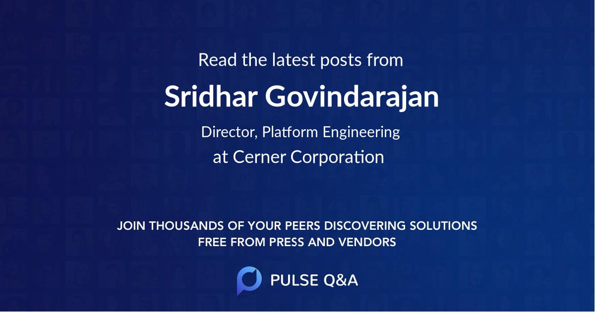 Sridhar Govindarajan