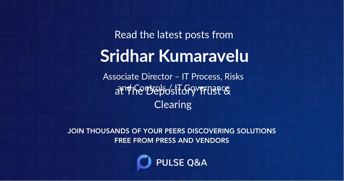 Sridhar Kumaravelu