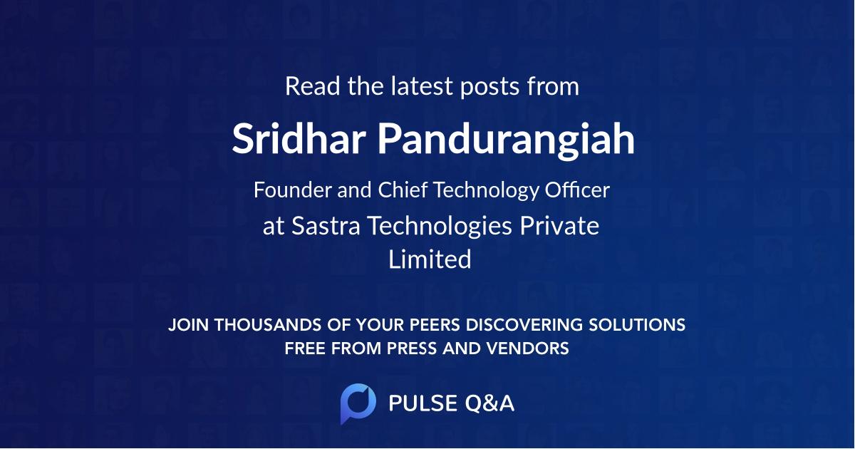 Sridhar Pandurangiah