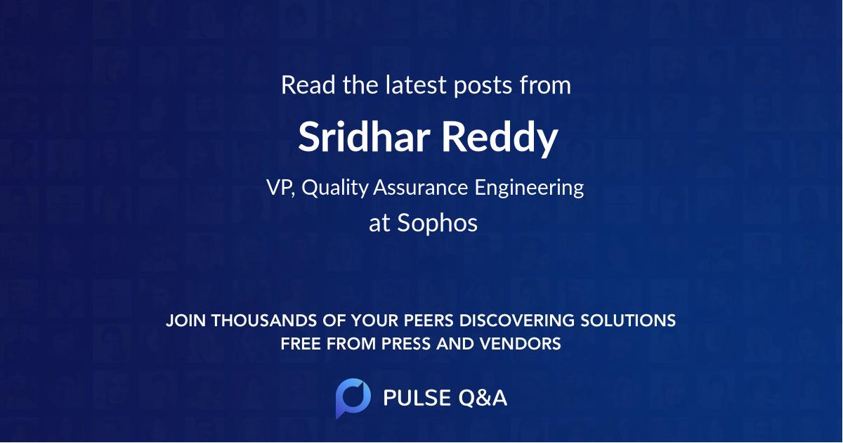 Sridhar Reddy
