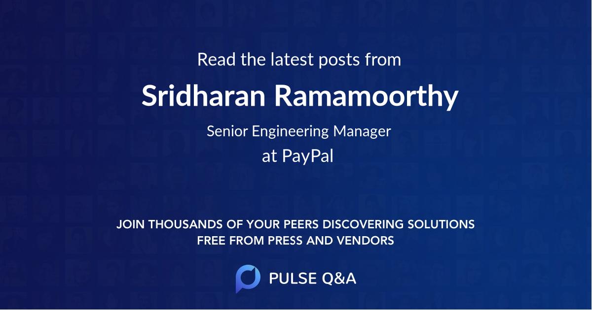 Sridharan Ramamoorthy