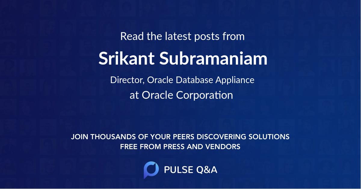 Srikant Subramaniam