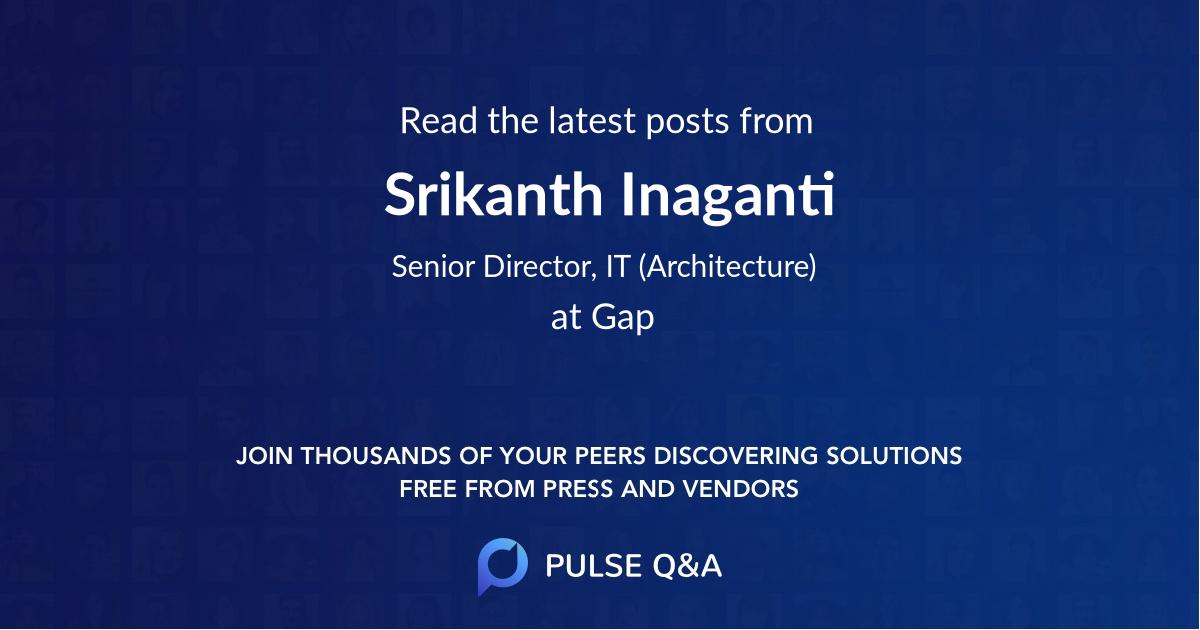 Srikanth Inaganti