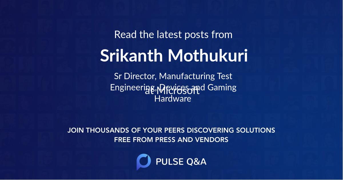 Srikanth Mothukuri
