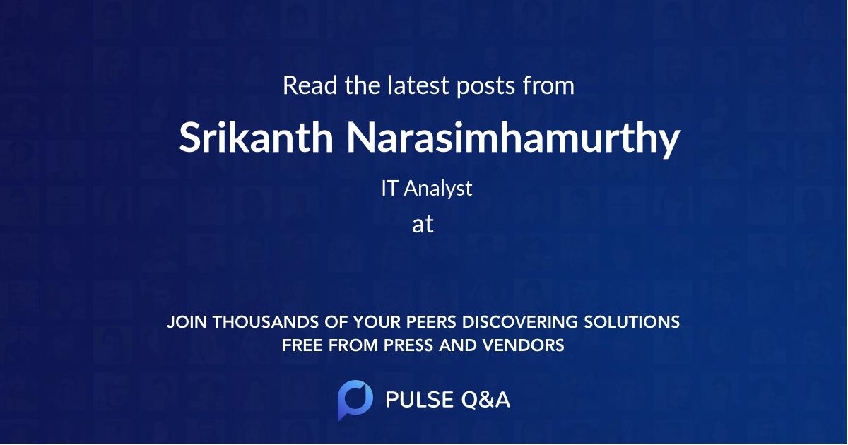 Srikanth Narasimhamurthy