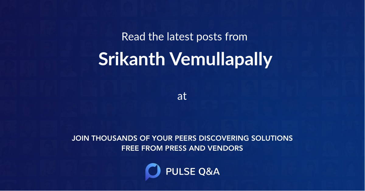 Srikanth Vemullapally