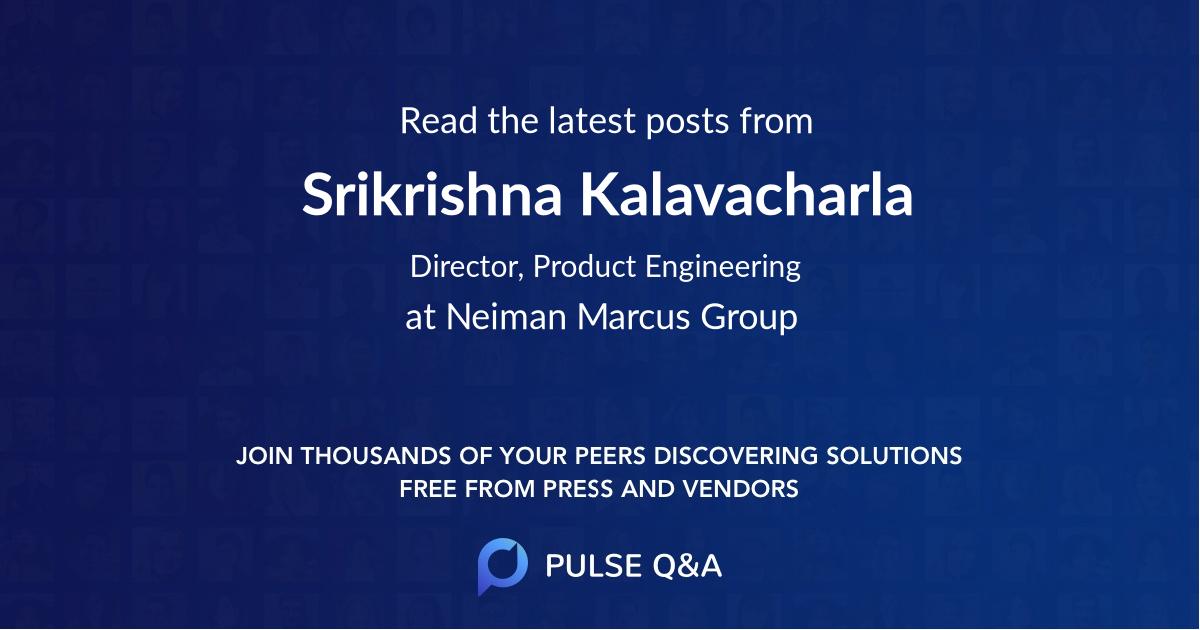 Srikrishna Kalavacharla