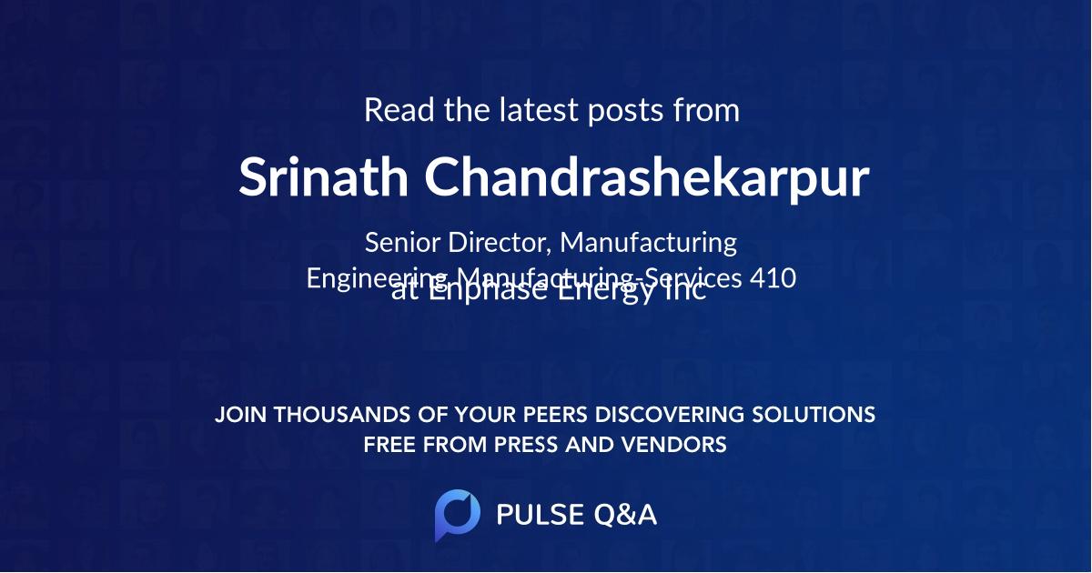 Srinath Chandrashekarpur