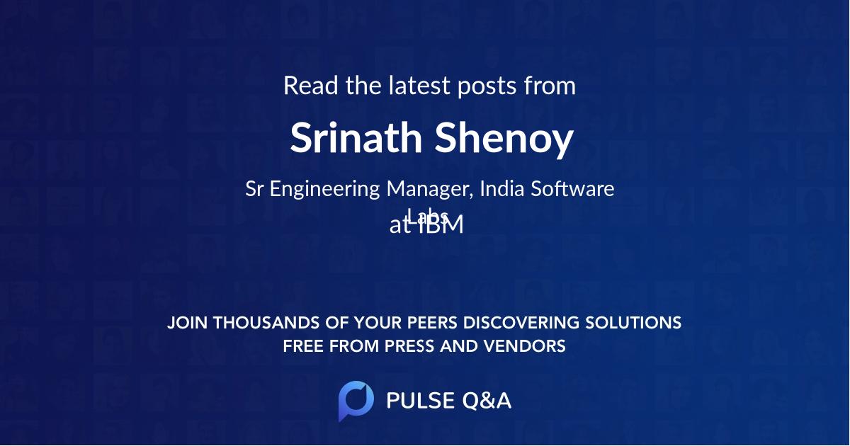 Srinath Shenoy