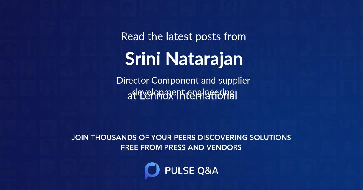 Srini Natarajan