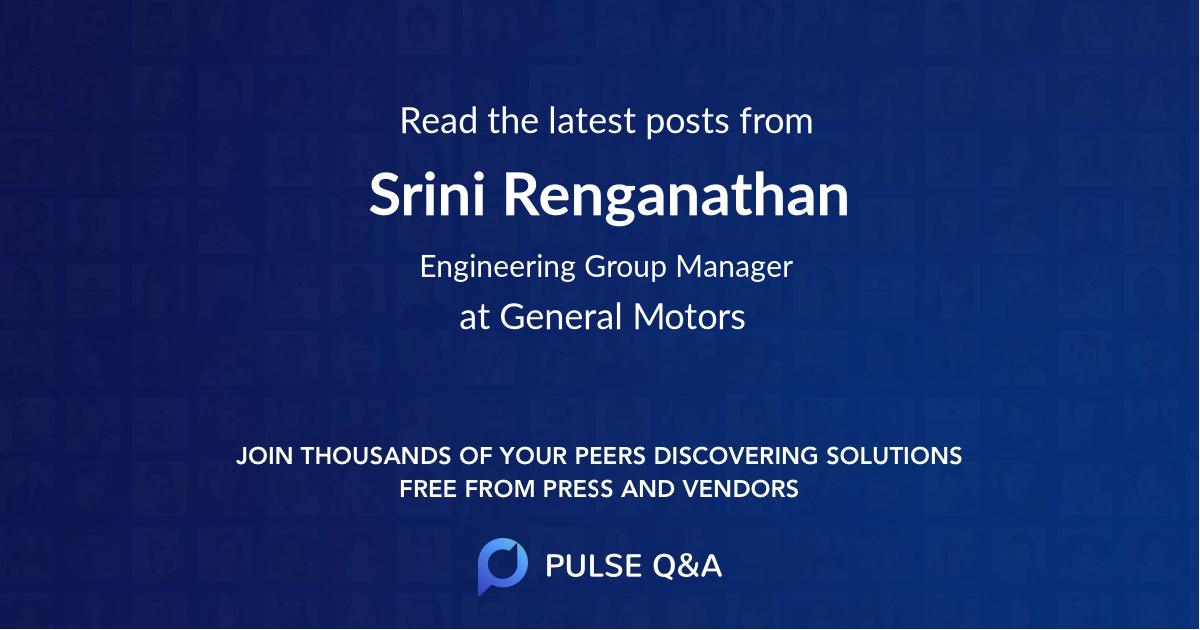 Srini Renganathan