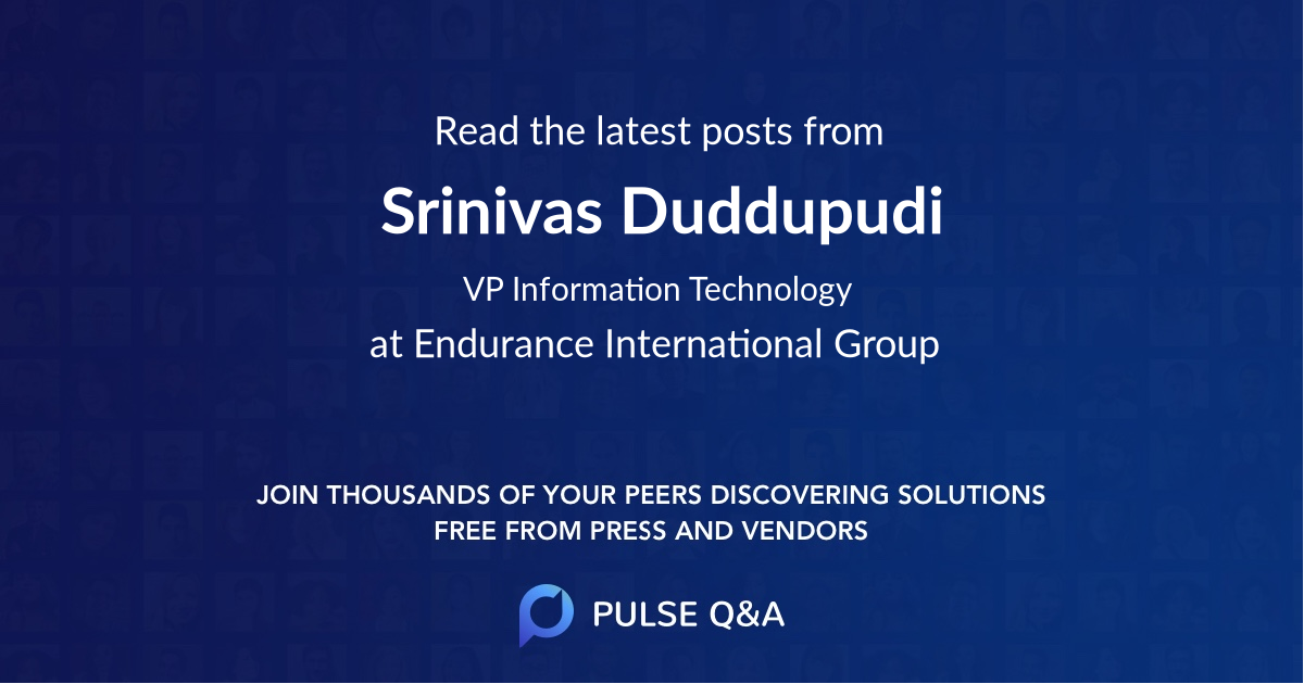 Srinivas Duddupudi