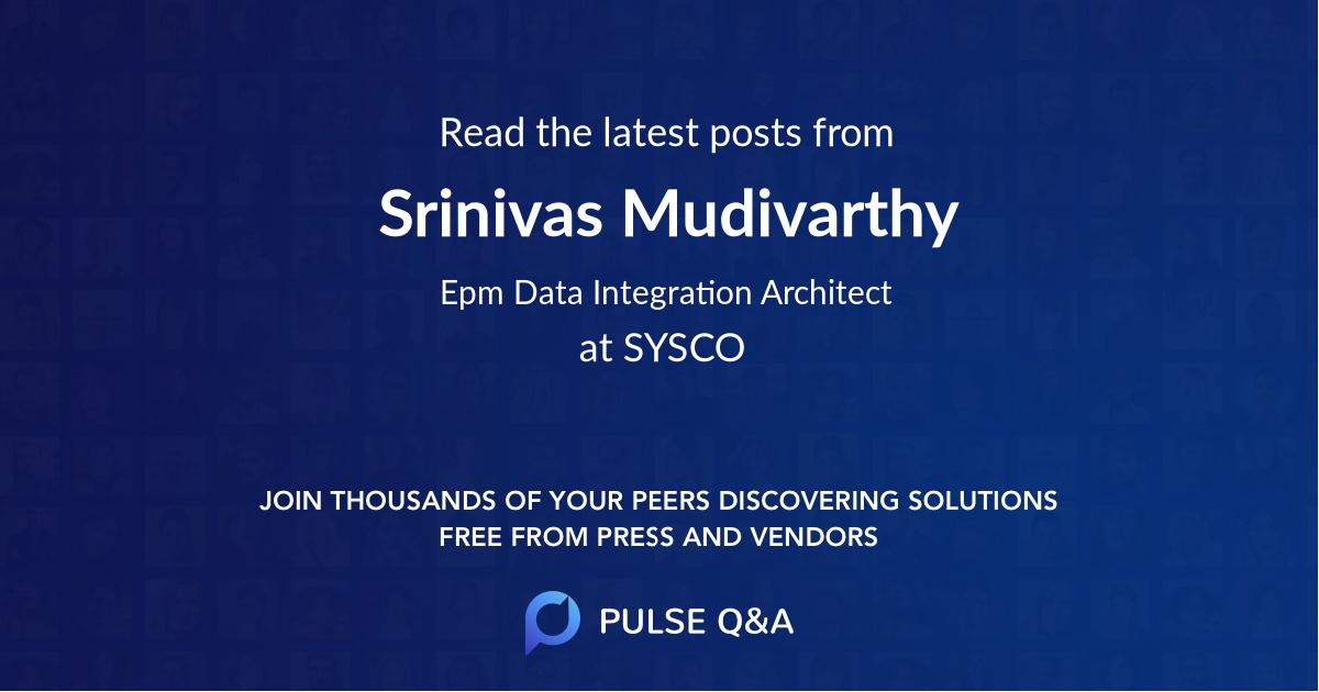 Srinivas Mudivarthy