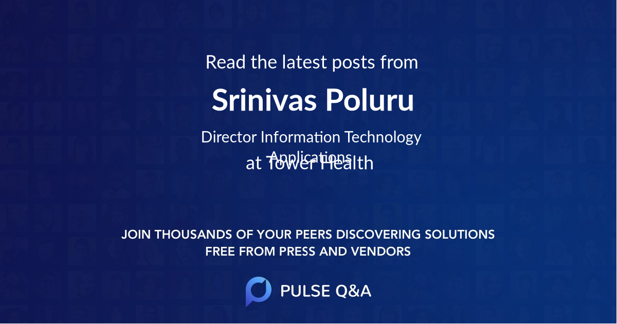 Srinivas Poluru