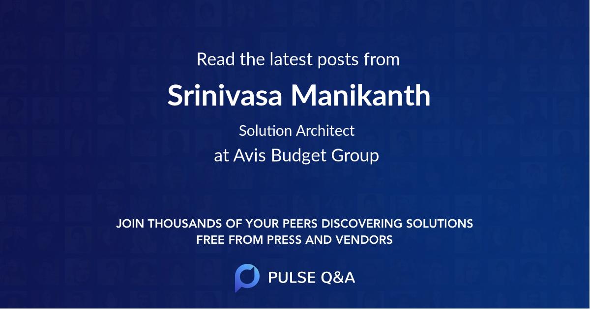 Srinivasa Manikanth