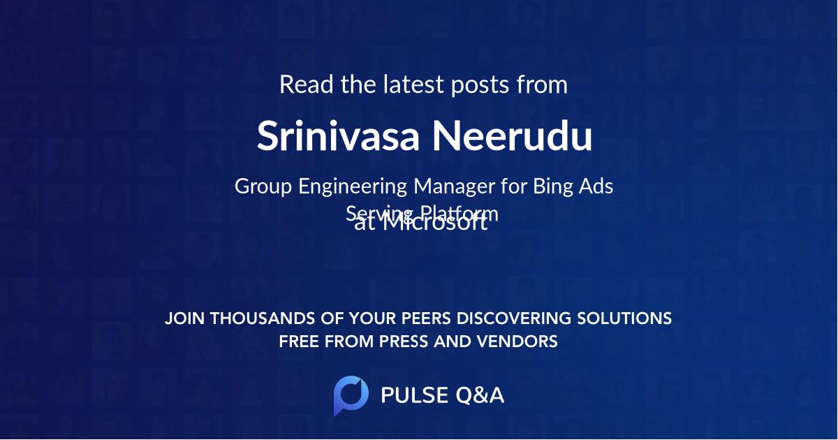 Srinivasa Neerudu