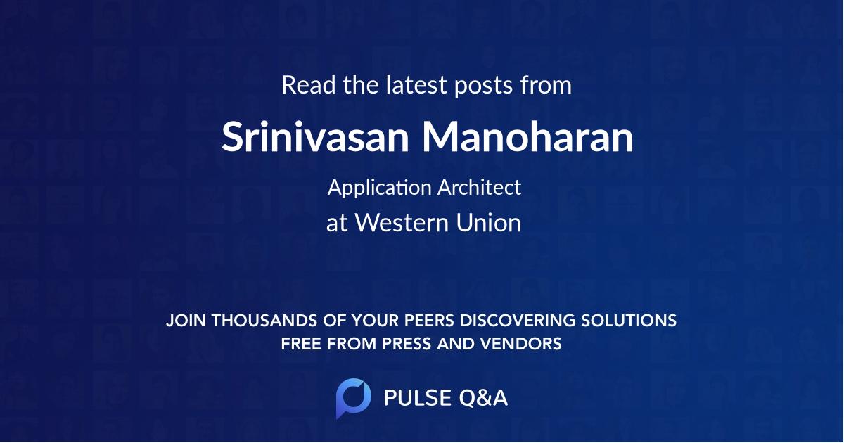 Srinivasan Manoharan