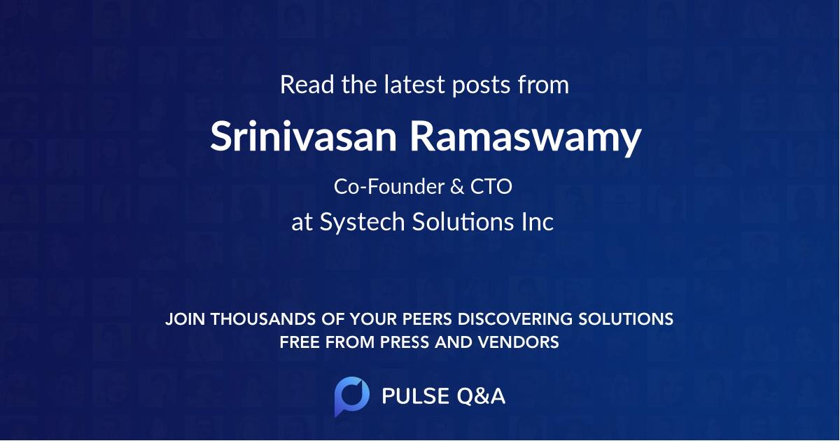 Srinivasan Ramaswamy