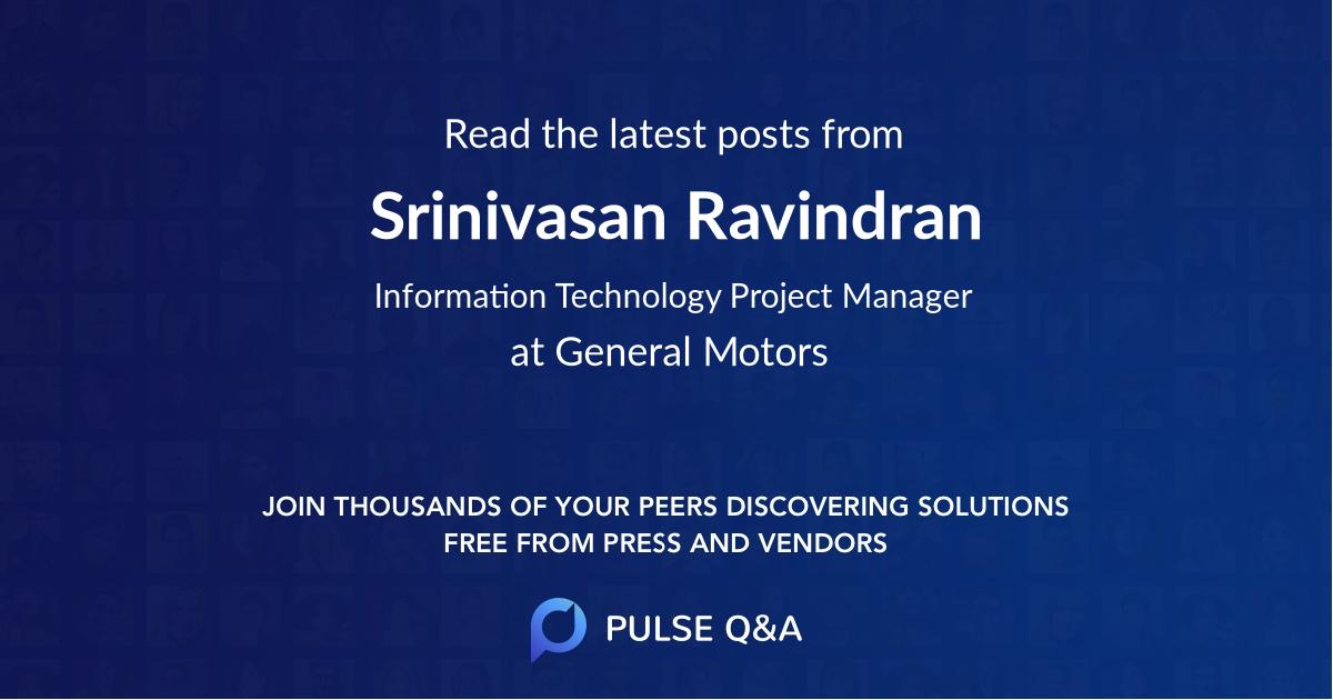 Srinivasan Ravindran