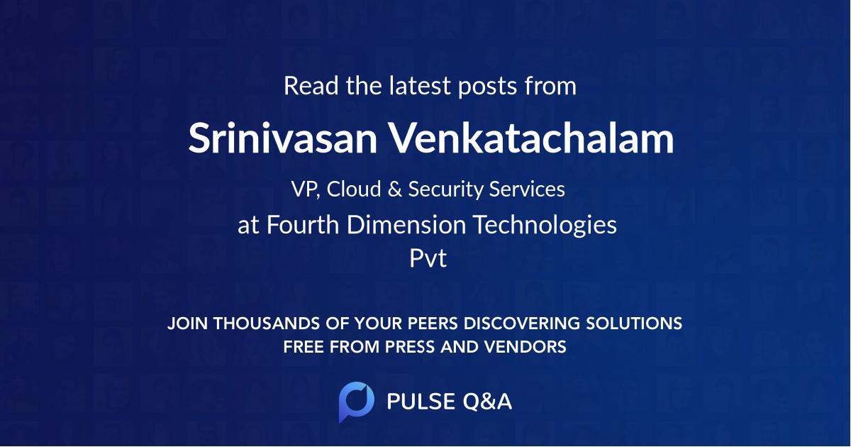 Srinivasan Venkatachalam