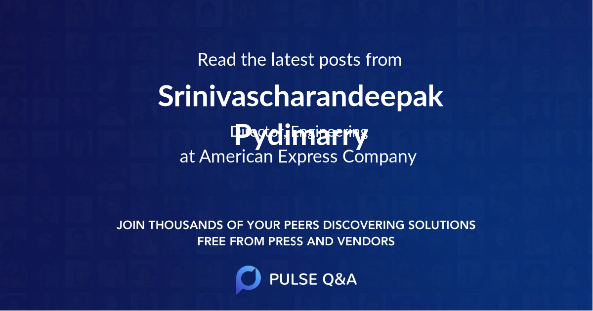 Srinivascharandeepak Pydimarry
