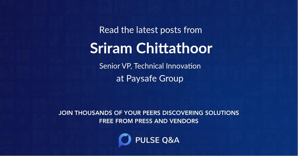 Sriram Chittathoor